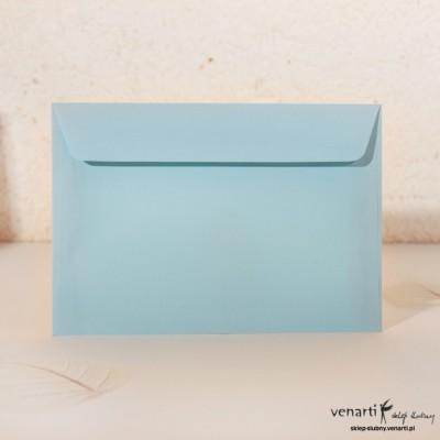 Gładka koperta C6 błękitna