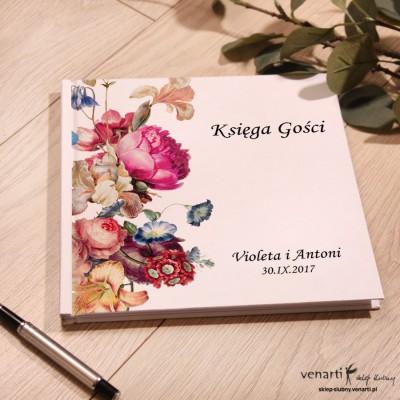 Eko kwiaty Ślubny, biały album, księga gości