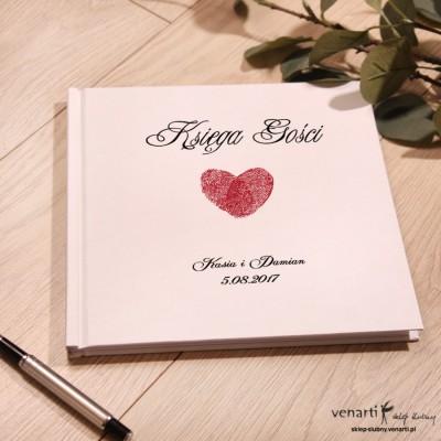 Serce z odcisków Ślubny, biały album, księga gości