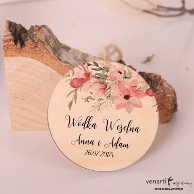 Magnolia - Ślubne, drewniane zawieszki