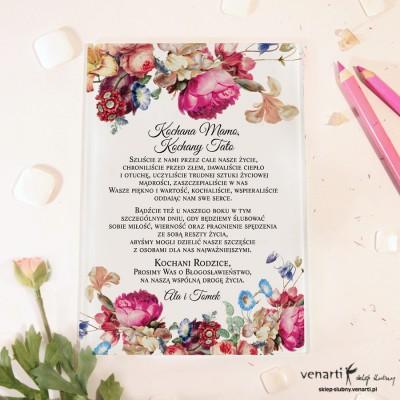 Eko kwiaty Szklane zaproszenia dla Rodziców