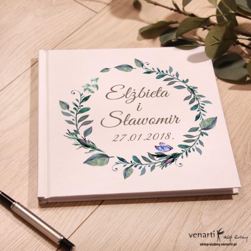 Zielone liście Ślubny, biały album, księga gości