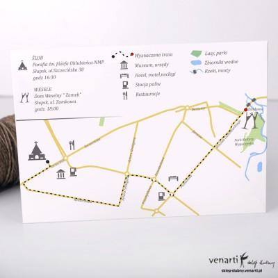 Projekt mapy dojazdu