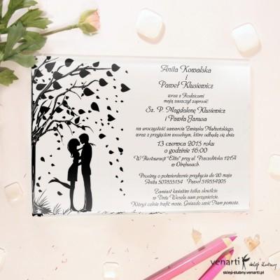 Love in the air Szklane zaproszenia ślubne