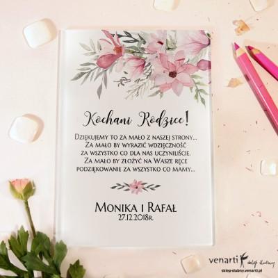 Magnolia Szklane podziękowania dla Rodziców