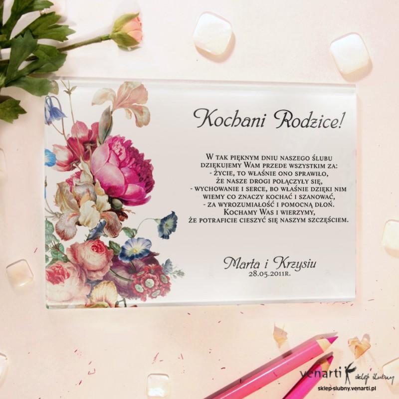Eko kwiaty Szklane podziękowania dla Rodziców