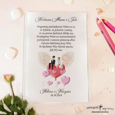 Para na sercu Szklane podziękowania dla Rodziców