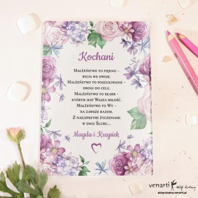 Rustykalne kwiaty Szklane karty z życzeniami