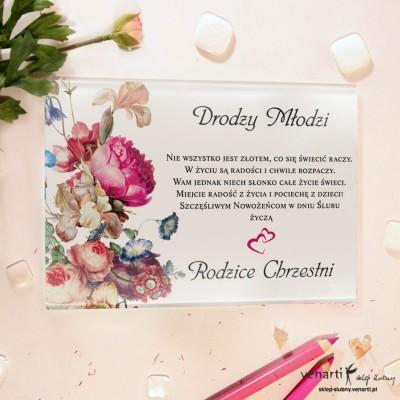 Eko kwiaty Szklane karty z życzeniami