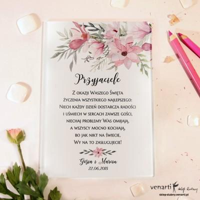 Magnolie Szklane karty z życzeniami