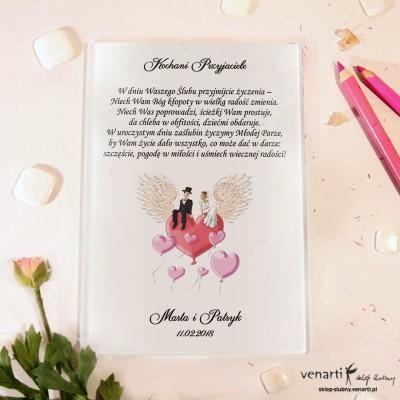 Para na sercu Szklane karty z życzeniami