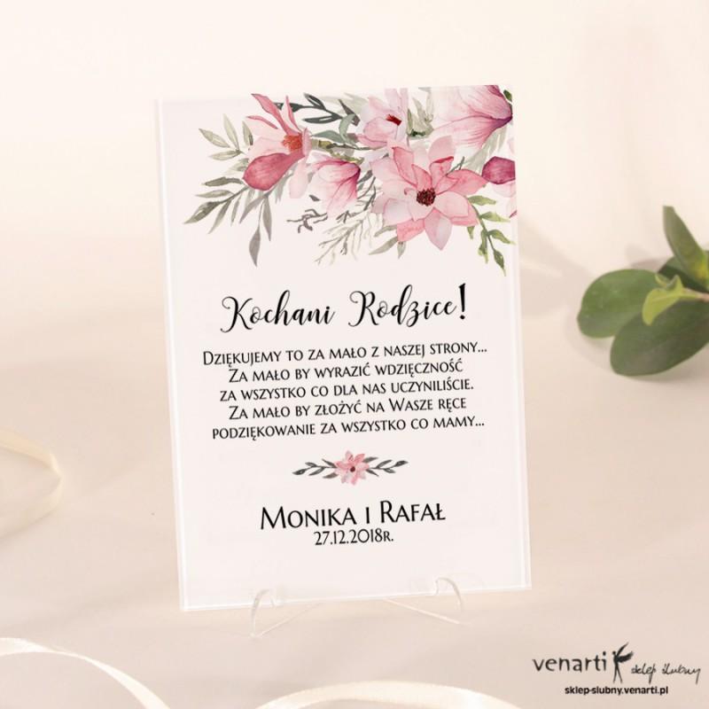 Magnolia Szklane Podziękowania Dla Rodziców 1995 Sklep ślubny Venarti