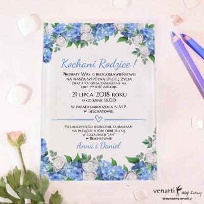 Hortensja Szklane zaproszenia dla Rodziców