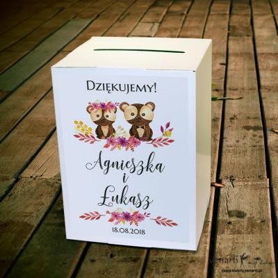 Para misiów Ślubne pudełko na koperty