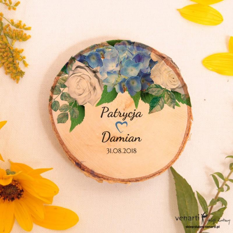 Hortensja Ślubny magnes na lodówkę Plaster brzozy