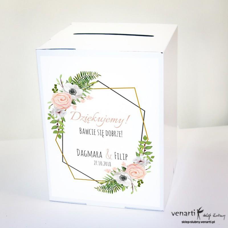 Kwiaty anemone, zawilec Ślubne pudełko na koperty
