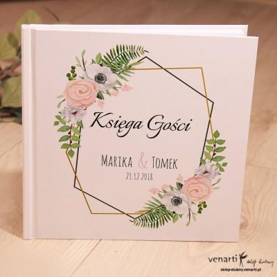 Białe anemone, zawilec Ślubny, biały album, księga gości