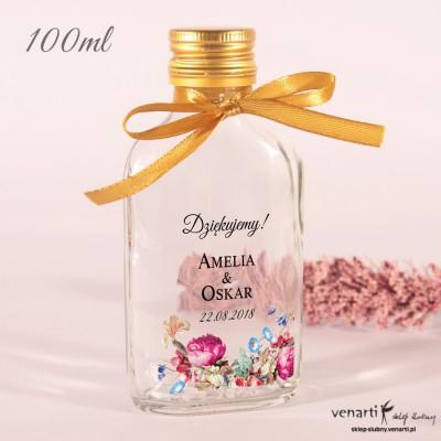 Eko kwiaty Ślubne butelki z nadrukiem