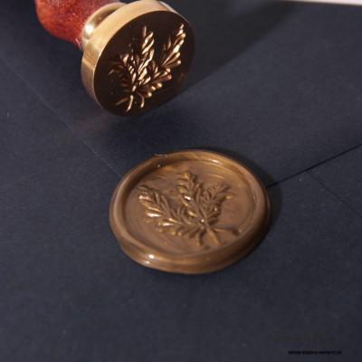 Lakowanie - wzór gałązki - stare złoto