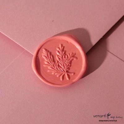 Lakowanie - wzór gałązki - różowy