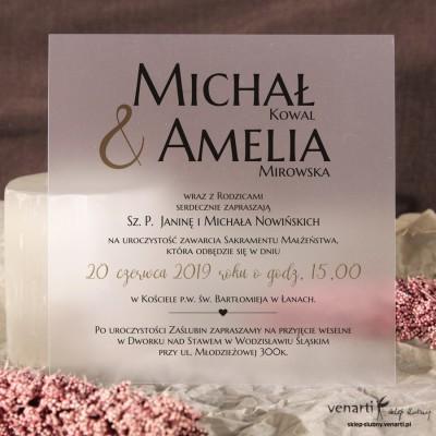 Zaproszenia ślubne transparentne