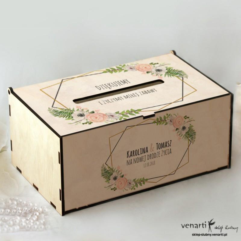 Anemone, zawilec Pudełko na koperty, telegramy