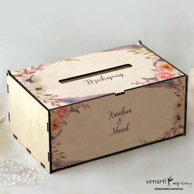 Kwiaty boho Pudełko na koperty, telegramy