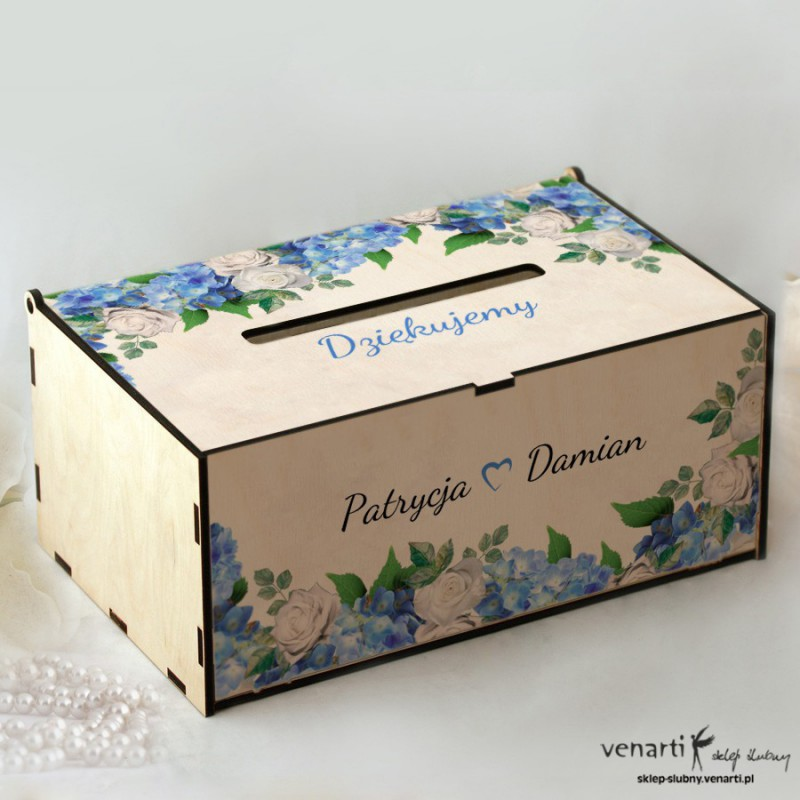 Hortensje Pudełko na koperty, telegramy