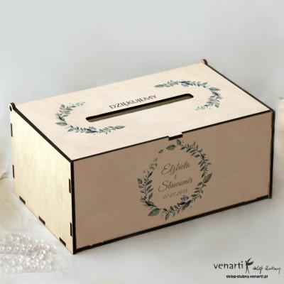 Zielone liście Pudełko na koperty, telegramy