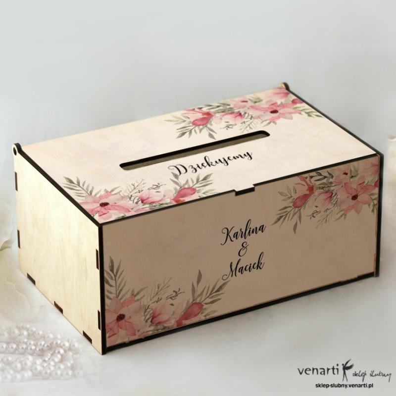 Magnolie Pudełko na koperty, telegramy