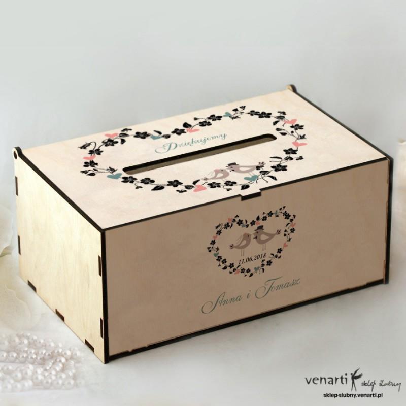 Ptaszki w sercu Pudełko na koperty, telegramy
