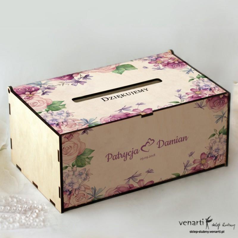 Rustykalne kwiaty Pudełko na koperty, telegramy