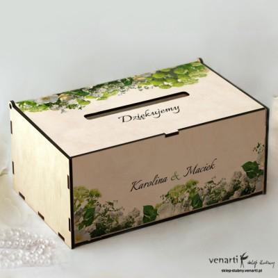 Białe kwiaty Pudełko na koperty, telegramy