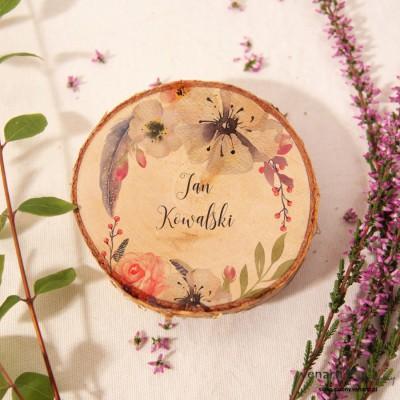 Kwiaty boho Ślubne winietki Magnes