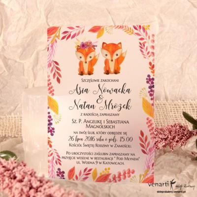 Lisy C6 Zaproszenia ślubne przezroczyste