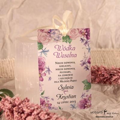 Rustykalne kwiaty Zawieszki ślubne przezroczyste