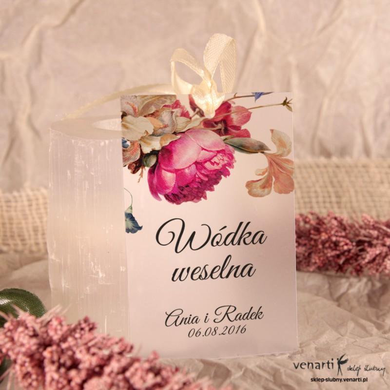 Eko kwiaty Zawieszki ślubne przezroczyste