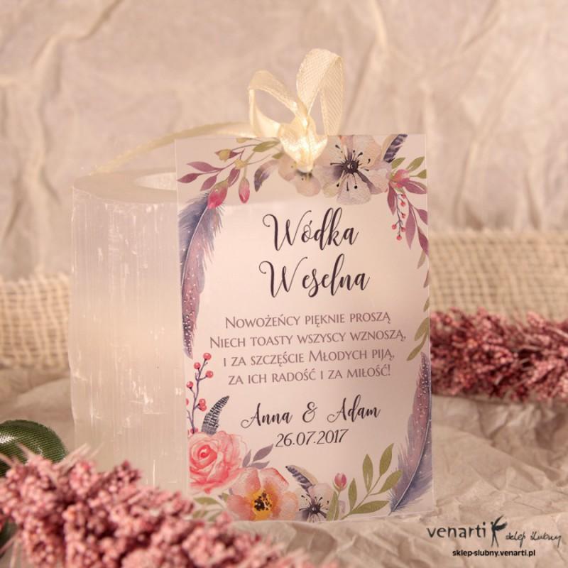 Kwiaty boho Zawieszki ślubne przezroczyste