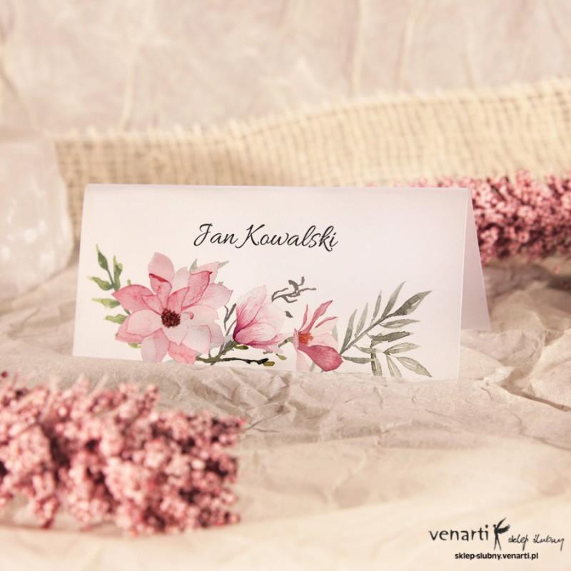 Magnolie Winietki ślubne przezroczyste