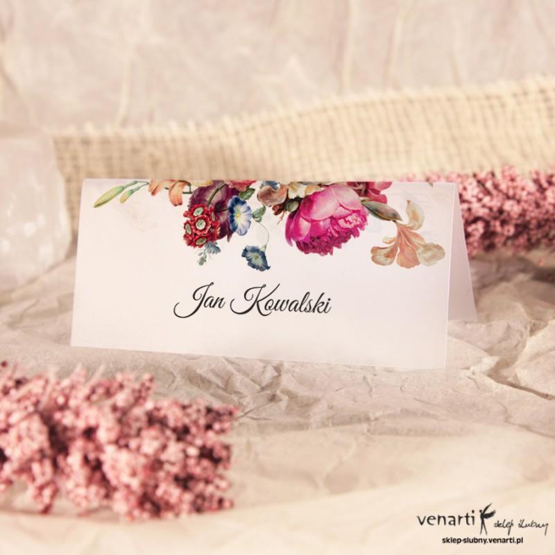 Eko kwiaty Winietki ślubne przezroczyste