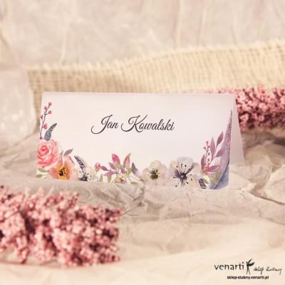 Kwiaty boho Winietki ślubne przezroczyste