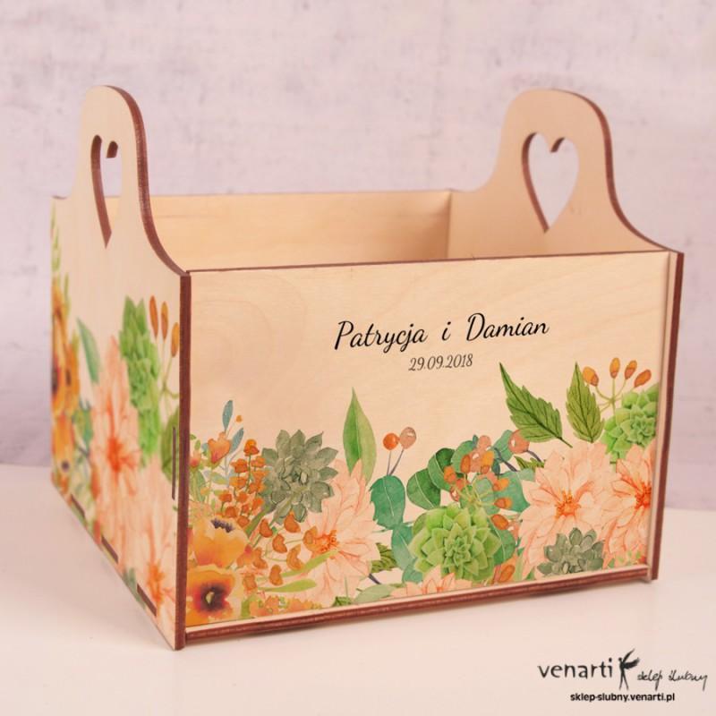 Pomarańczowe kwiaty Koszyczek ślubny
