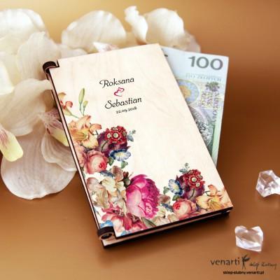 Eko kwiaty Pudełko, koperta na pieniądze