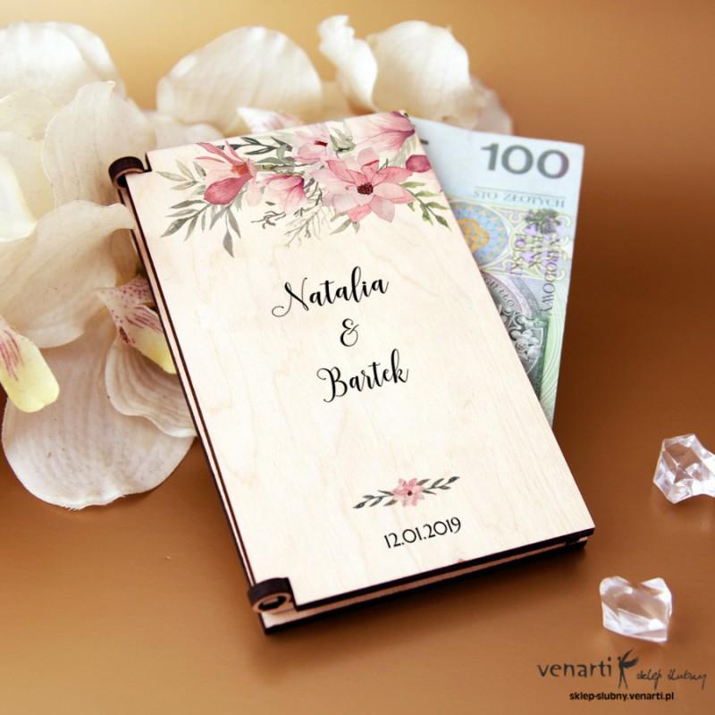 Magnolie Pudełko, koperta na pieniądze