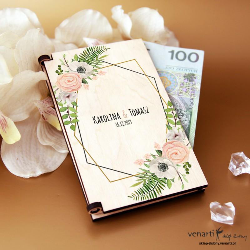 Anemone Pudełko, koperta na pieniądze