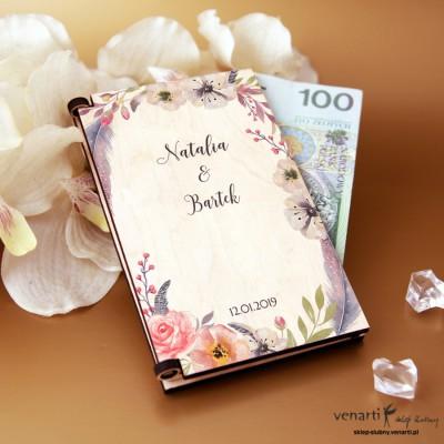 Kwiaty boho Pudełko, koperta na pieniądze