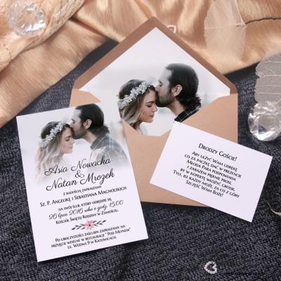 Zaproszenia ślubne z Waszymi zdjęciami