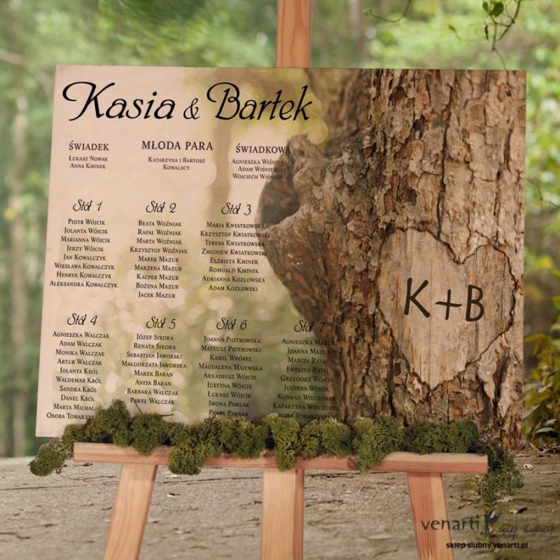 Kora z drzewa Drewniany plan stołów