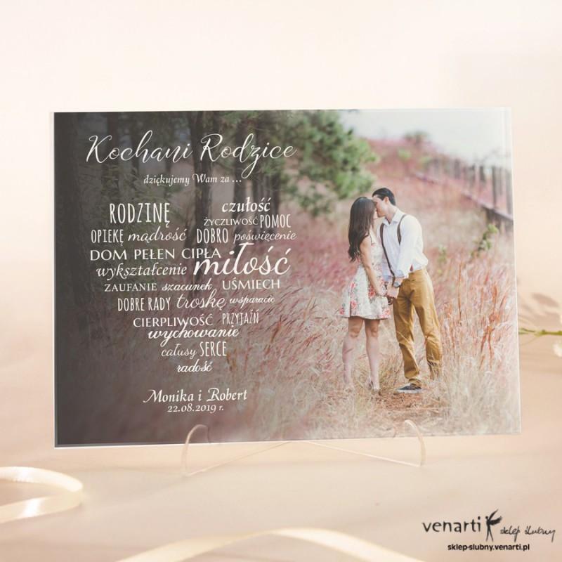 Szklane Podziękowania Dla Rodziców Z Waszym Zdjęciem 2407 Sklep ślubny Venarti