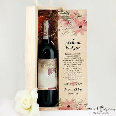 Magnolie Ślubna skrzynka na wino